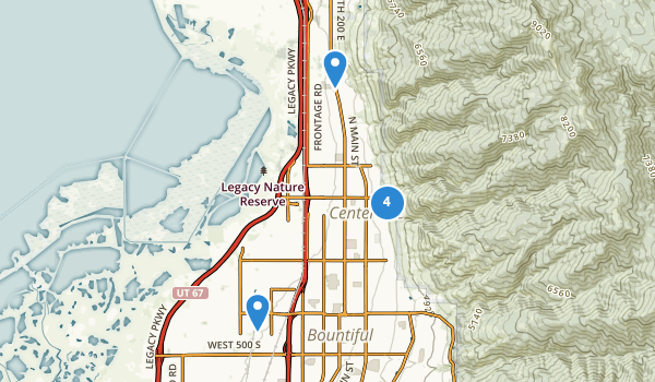 trail locations for Centerville, Utah