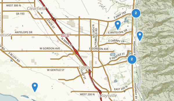 Layton, Utah Map