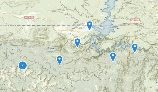 trail locations for Manila, Utah