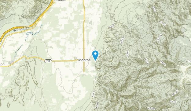Monroe, Utah Map