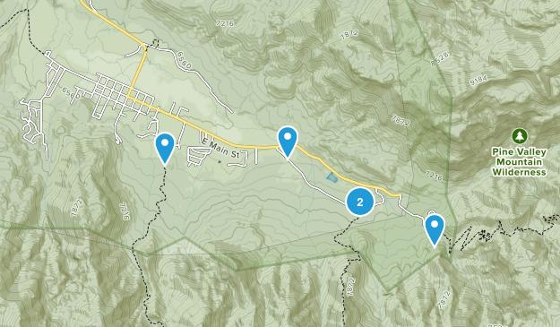 Pine Valley, Utah Map