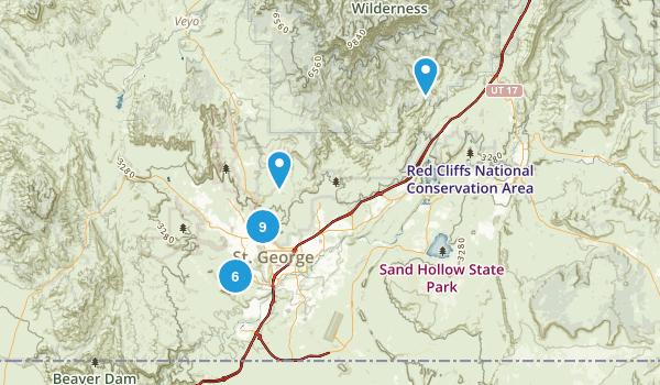 Saint George, Utah Map