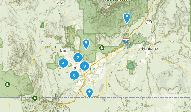 Saint George, Utah Map
