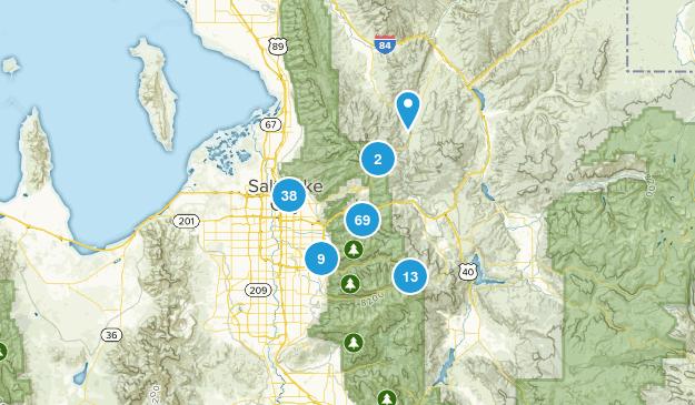 Salt Lake City, Utah Map