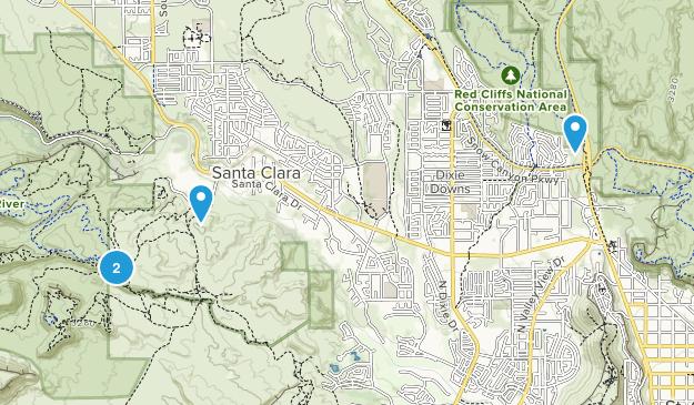 Santa Clara, Utah Map