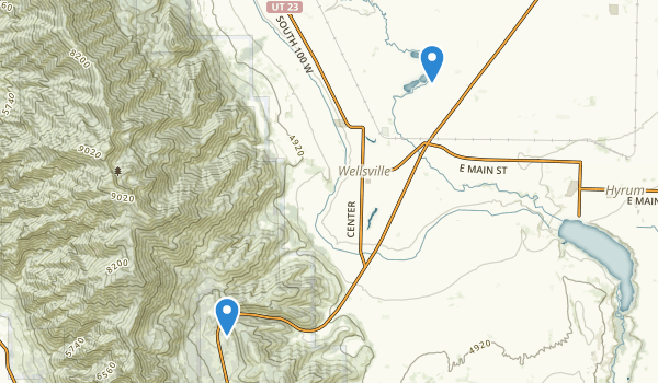 trail locations for Wellsville, Utah