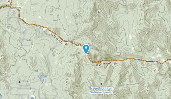 Bread Loaf, Vermont Map