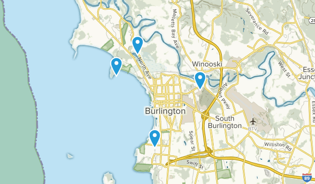 Burlington, Vermont Map