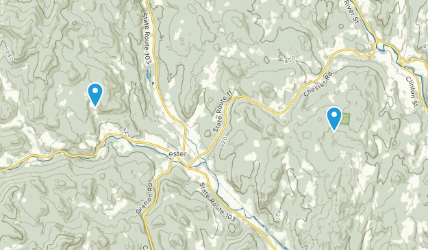 Chester, Vermont Map