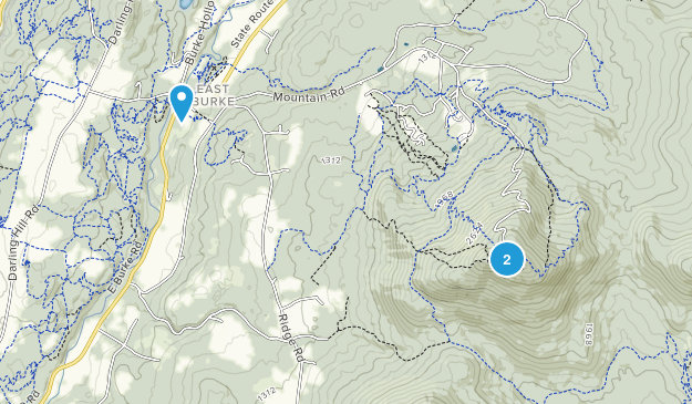 East Burke, Vermont Map