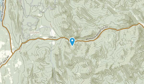 Goshen, Vermont Map