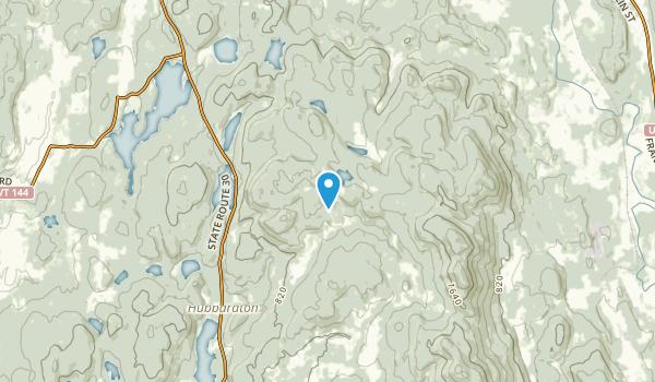 Hubbardton, Vermont Map