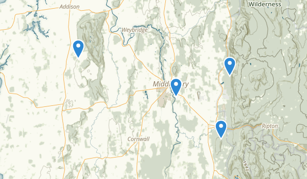 Middlebury, Vermont Map