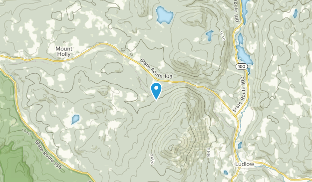 Mt. Holly, Vermont Map