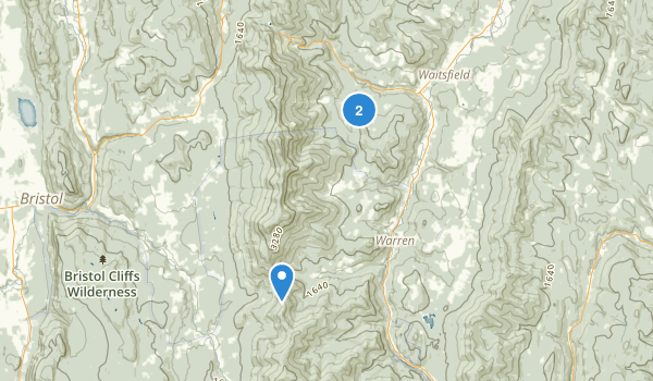 Waitsfield, Vermont Map