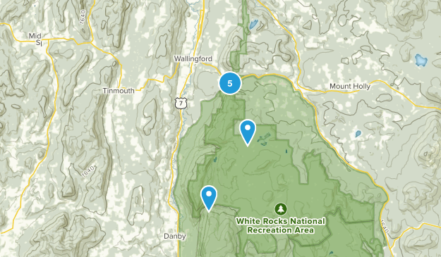 Wallingford, Vermont Map