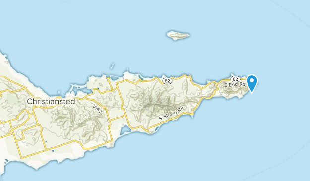 Christiansted, Virgin Islands Map