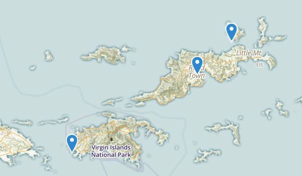 Cruz Bay, Virgin Islands Map