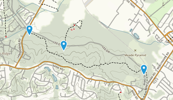 Artillery Ridge, Virginia Map