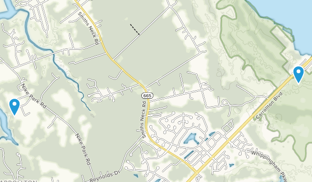 Carrollton, Virginia Map