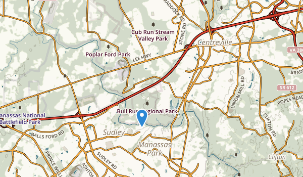 Centreville, Virginia Map