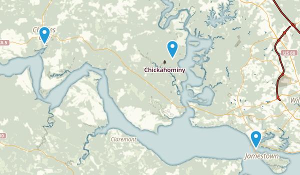 Charles City, Virginia Map