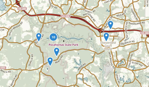 Chesterfield, Virginia Map