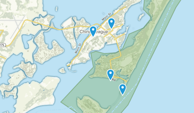 Chincoteague, Virginia Map