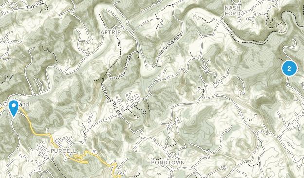 Cleveland, Virginia Map