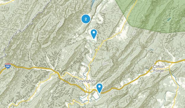 Covington, Virginia Map