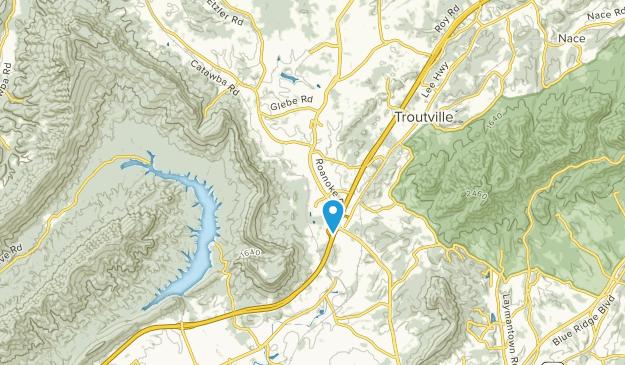 Daleville, Virginia Map