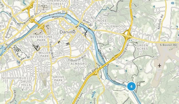 Danville, Virginia Map