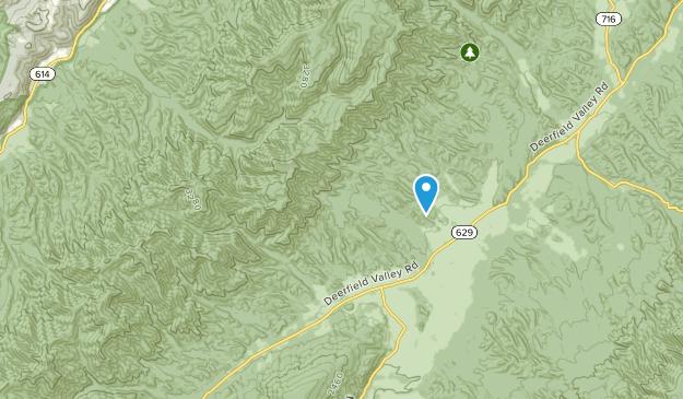 Deerfield, Virginia Map