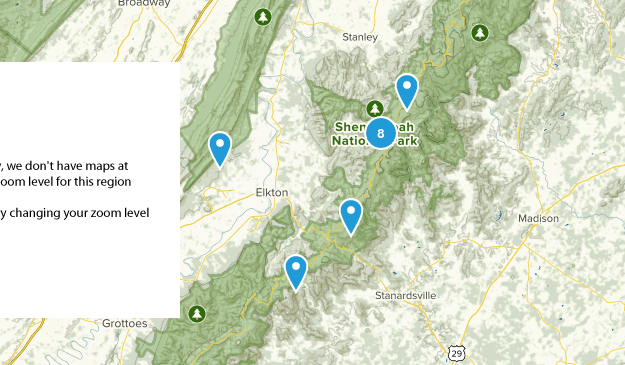Elkton, Virginia Map