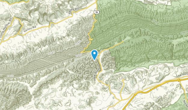 Ellendale, Virginia Map