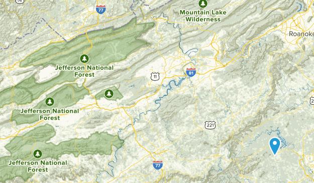 Falls Mills, Virginia Map