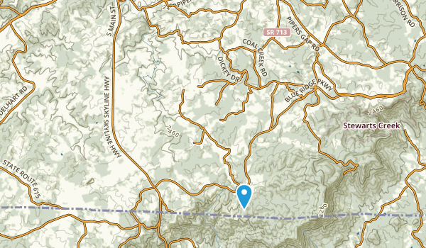 Galax, Virginia Map
