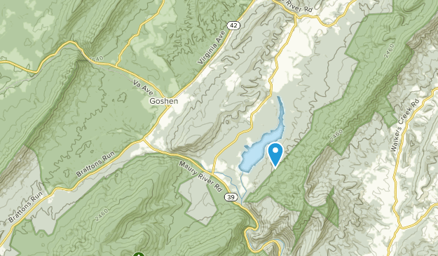 Goshen, Virginia Map