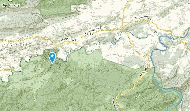 Ivanhoe, Virginia Map