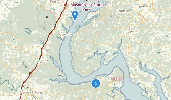 King George, Virginia Map