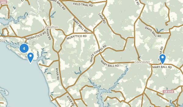 Lancaster, Virginia Map