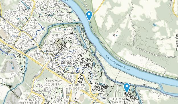 Lansdowne Town Center, Virginia Map