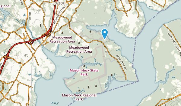 Mason Neck, Virginia Map