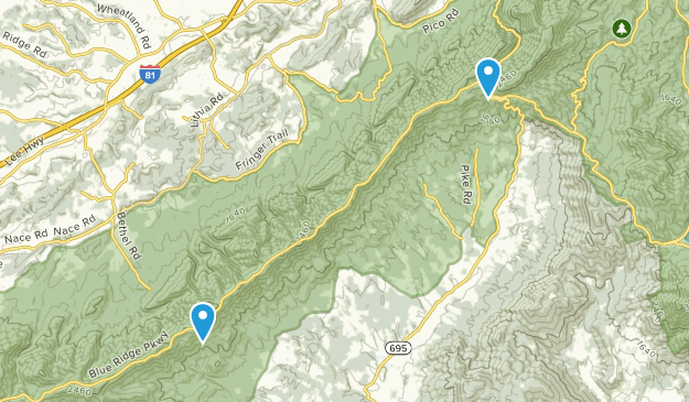 Montvale, Virginia Map