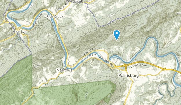Narrows, Virginia Map
