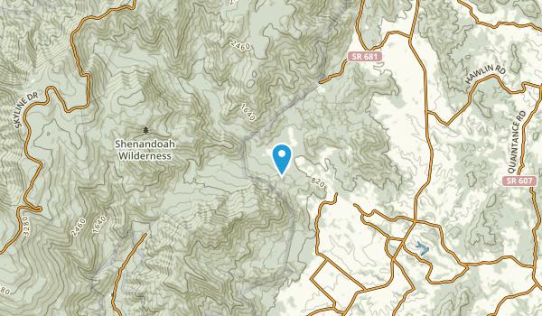Nethers, Virginia Map
