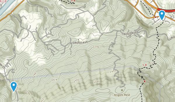 Appalachian Trail Virginia Map And Us 460