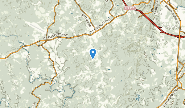 trail locations for Ridgeway, Virginia