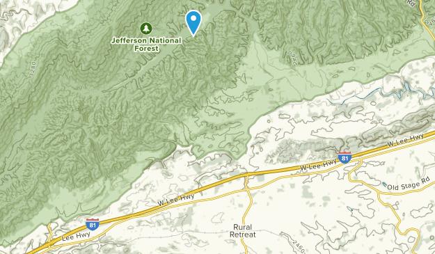 Rural Retreat, Virginia Map