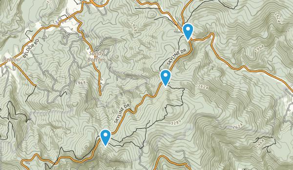 Sandy Bottom, Virginia Map